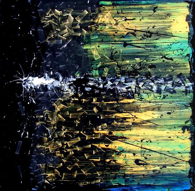 A night on the dark bare mountain goa quadri moderni for Quadri su tela astratti