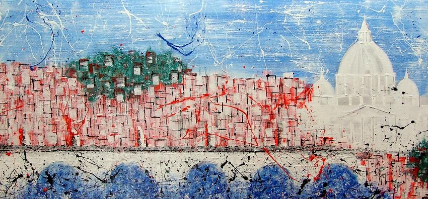 Quadro moderno intitolato roma for Immagini astratte moderne
