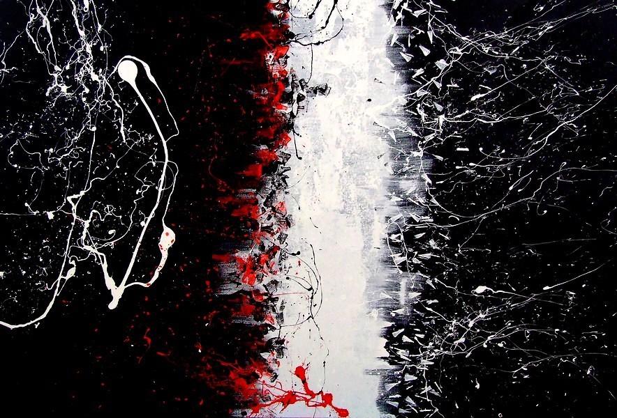Noi siamo quadro astratto su tela for Dipinti moderni bianco e nero