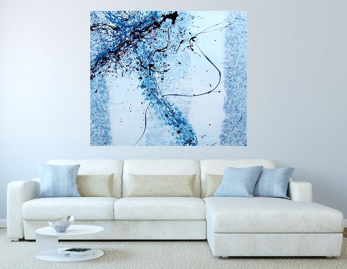 quadri per arredamento moderno in rendering